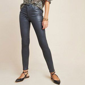 Paige Hoxton High-Rise Coated Skinny Jeans 29P